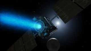 Artist's Concept of Dawn Spacecraft Above Ceres
