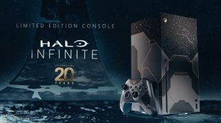 Screengrab of Xbox Series X Halo Infinite Limited Edition trailer