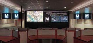 Flexible Video Wall Anchors Metro DC Security Center