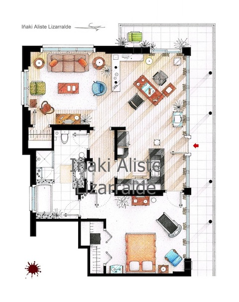 Other tv show apartments inspire cool floor plan artwork cinemablend