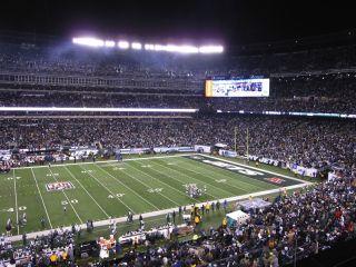 Metlife stadium at night