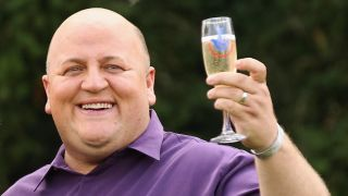 Adrian Bayford after his lottery win in 2012