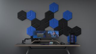 Elgato Wave Panels and Light Strips on gaming PC and up close