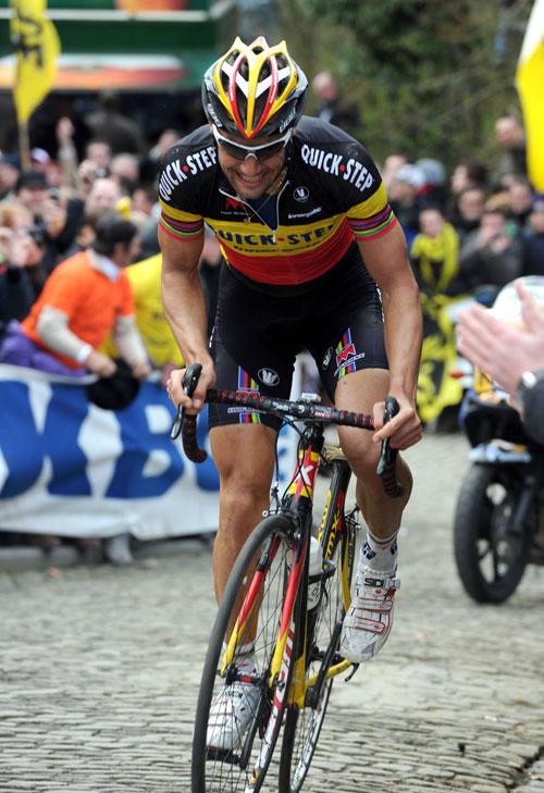Tom Boonen on Grammont, Tour of Flanders 2010