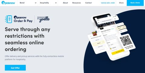 Epos Now Order & Pay website