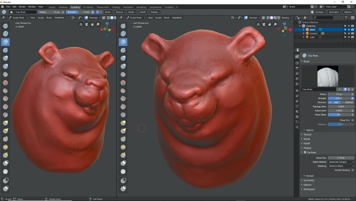 How to speed sculpt in Blender 2 80 | Creative Bloq