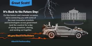 White House Back to the Future Day Graphic