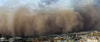 dust storm in Tehran
