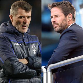 Roy Keane and Jamie Redknapp (Nick Potts/Michael Regan/PA)