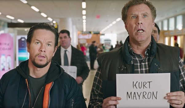 Daddy's Home 2 Mark Wahlberg Will Ferrell waiting at the airport