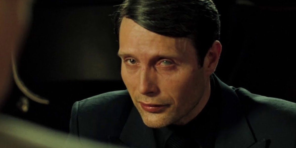 Mads Mikkelsen as the villain in Casino Royale