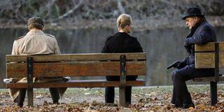 The Blacklist Bench photo courtesy of NBC with James Spader as Red Reddington