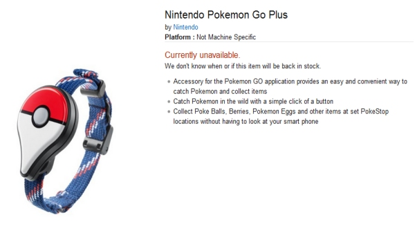 Pokemon Go Plus Sold Out