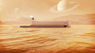 Researchers have proposed sending a submarine to explore the huge Saturn moon Titan's frigid seas of methane and ethane.