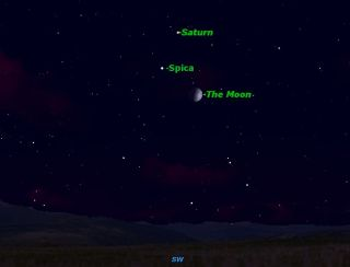 Saturn and Spica Sky Map June 2012
