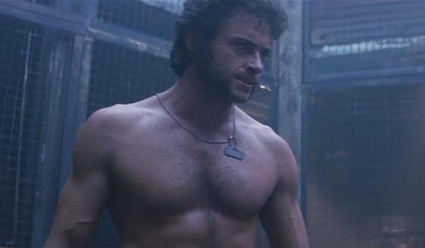 Wolverine in cage during first X-Men movie
