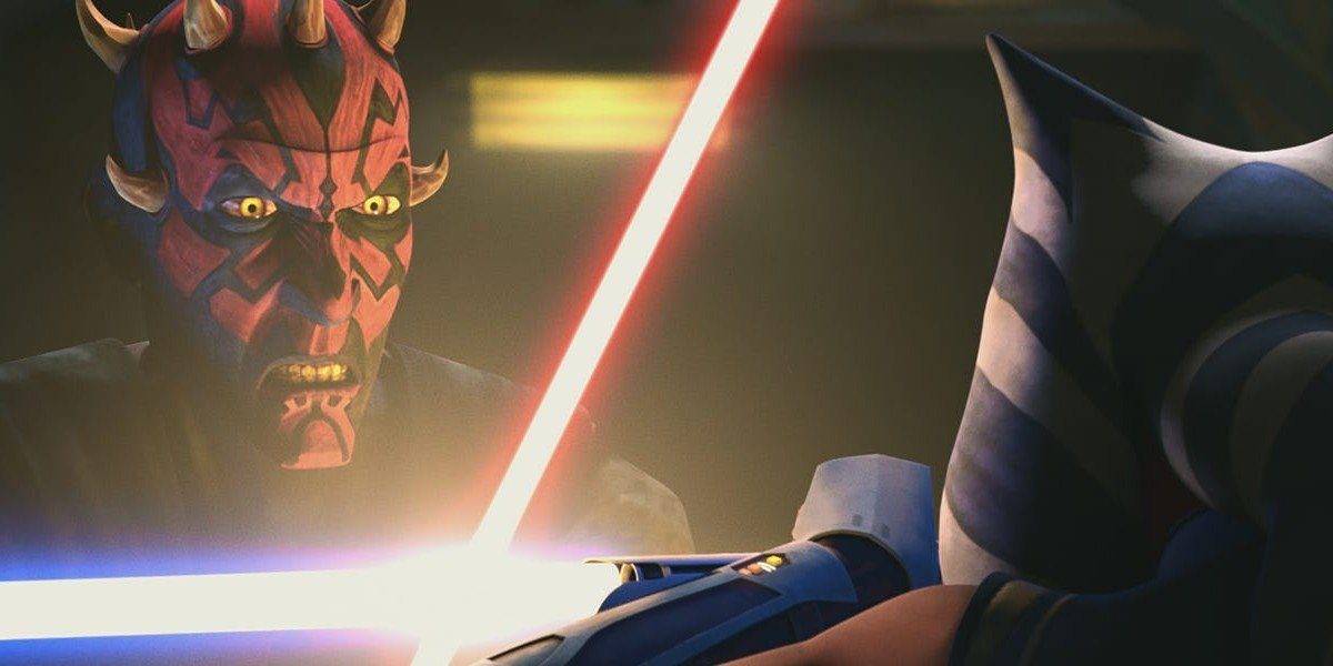 How Star Wars: The Clone Wars Pulled Off That Epic Lightsaber Duel Between Maul And Ahsoka 1
