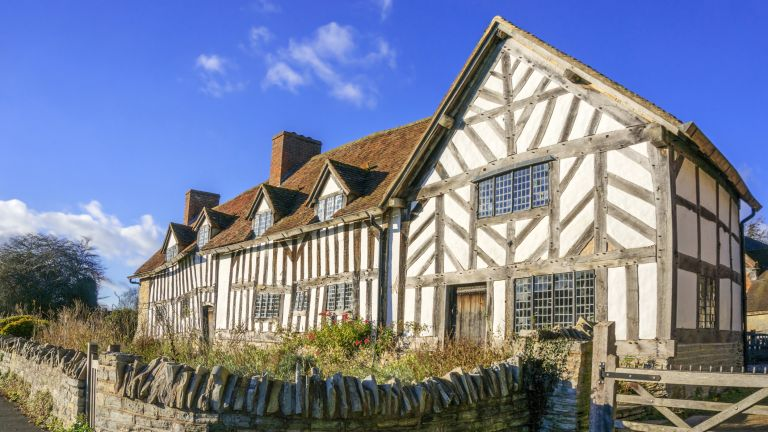 timber frame home in an English village