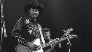 Clarence 'Gatemouth' Brown performs live at Meervaart in Amsterdam, Netherlands on March 19 1988