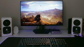 Dell S2721DGF gaming monitor running Assassin's Creed