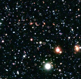 distant galaxies formed just after the big bang.