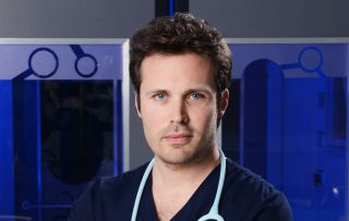 James Anderson plays Oliver Valentine in Holby City