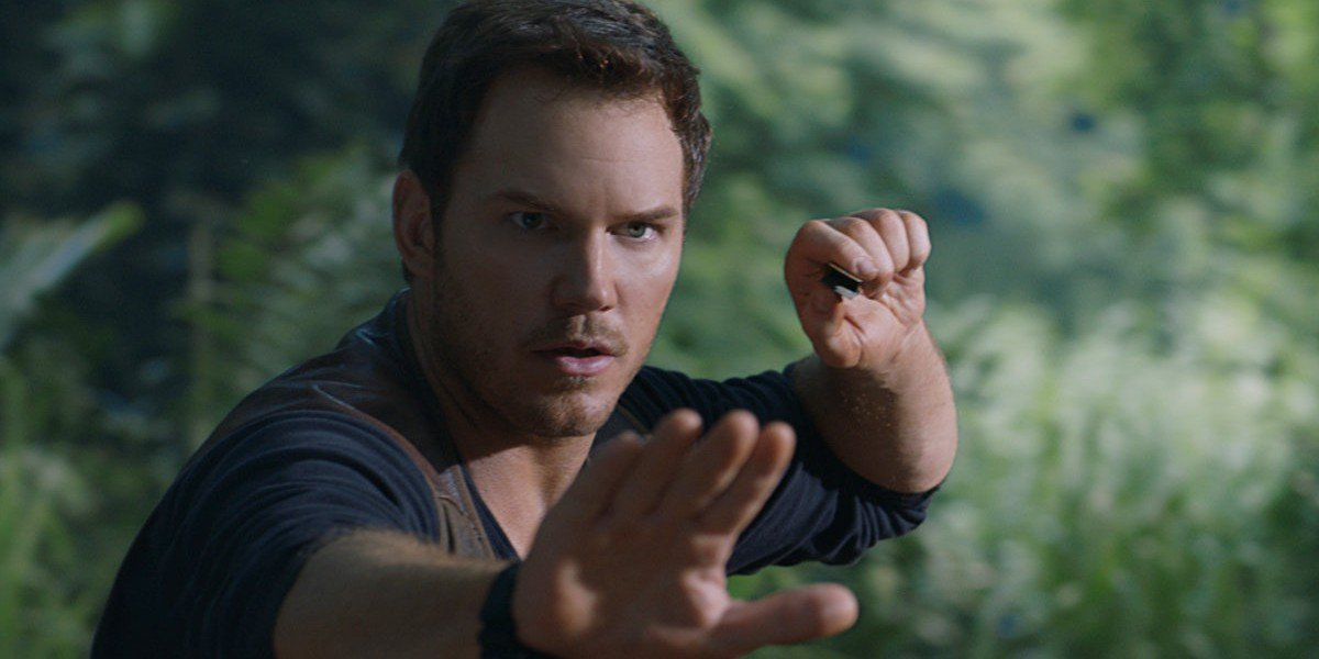 Chris Pratt as Owen Grady in Jurassic World: Fallen Kingdom (2018)