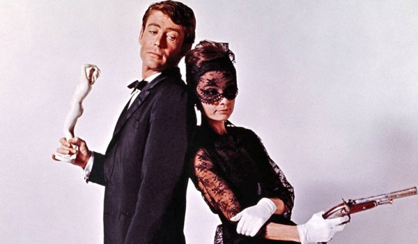 How To Steal A Million Peter O'Toole Audrey Hepburn mock duelist poses