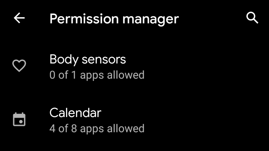 Restrict app permissions