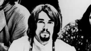 Ron Bushy posed with Iron Butterfly