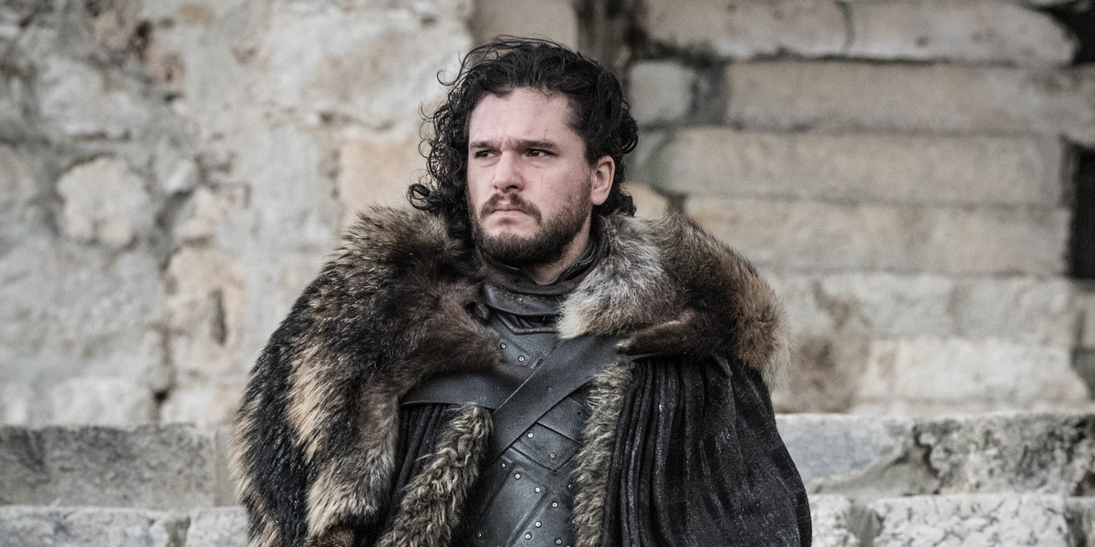 Jon Snow in Winterfell