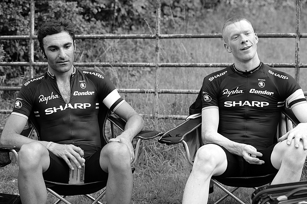 Kristian House and Ed Clancy, Rossington Evening 10-mile time trial, August 2011