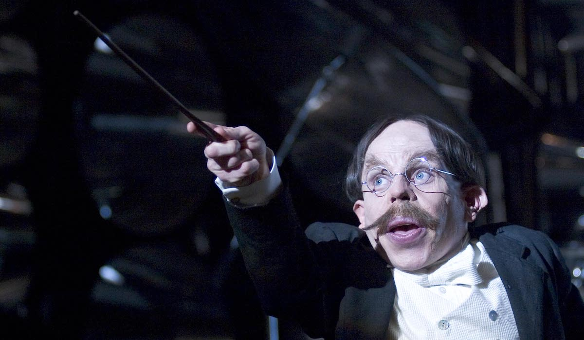 Warwick Davis as Filius Flitwick in Harry Potter