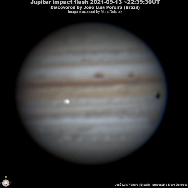Jupiter just got smacked by a space rock and an amateur astronomer caught it on camera