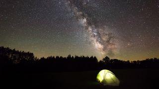 Stars in dark sky