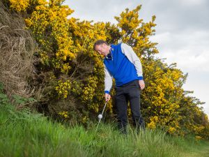 Rules of golf ball at rest moved