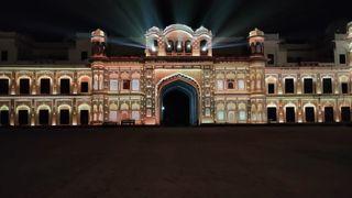 Christie projection mapping on Qila Mubarak