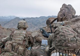 US Army Officers in Afghanistan