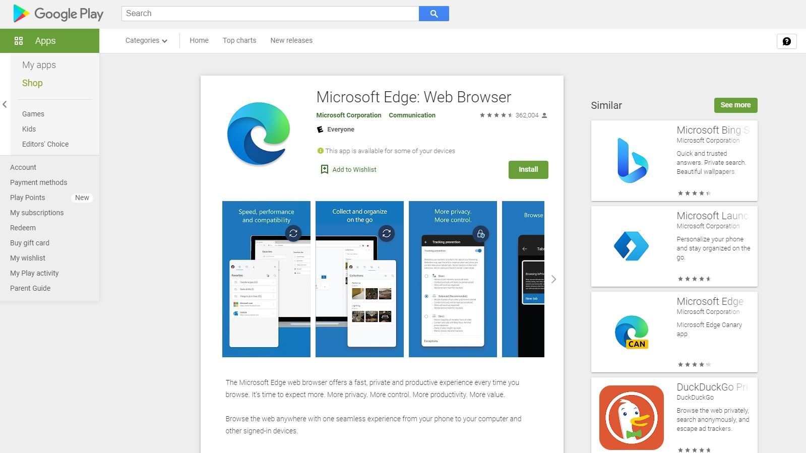 Edge for Android