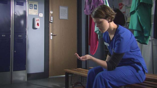 Holby's Eddi uncovers Max's big lie