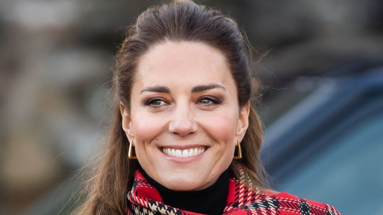 Catherine, Duchess of Cambridge during a visit to Cardiff Castle with Prince William