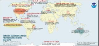 Global weather events for May 2012.