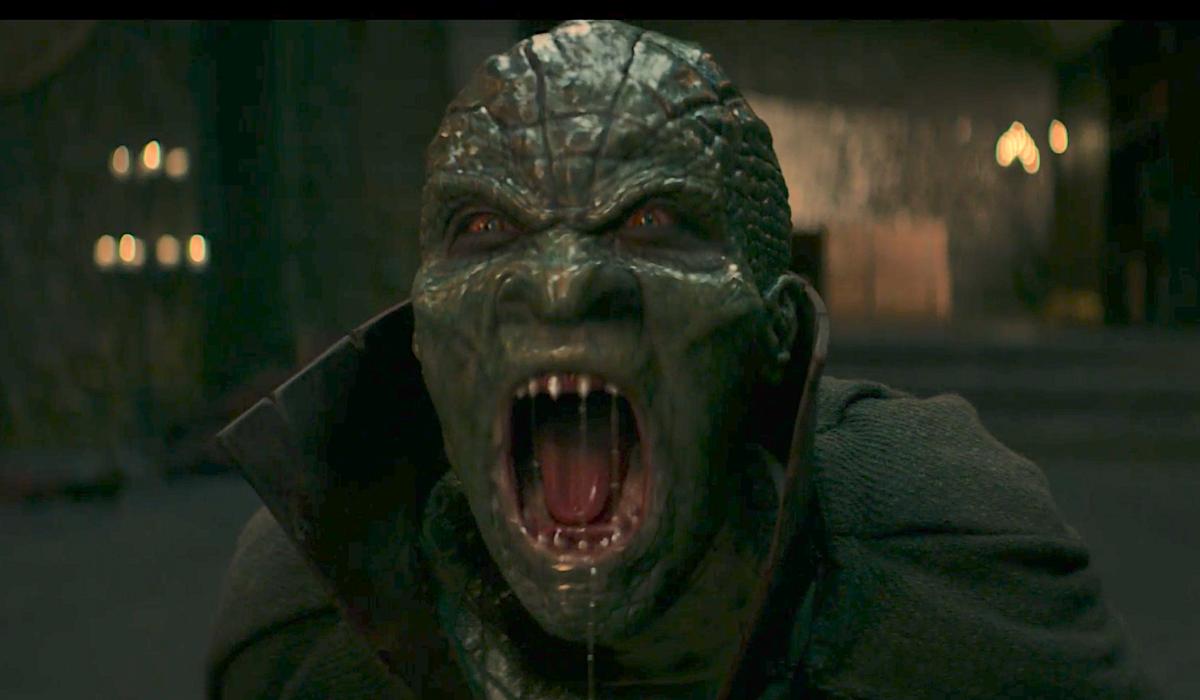 dragon king's unmasked face on stargirl tv show