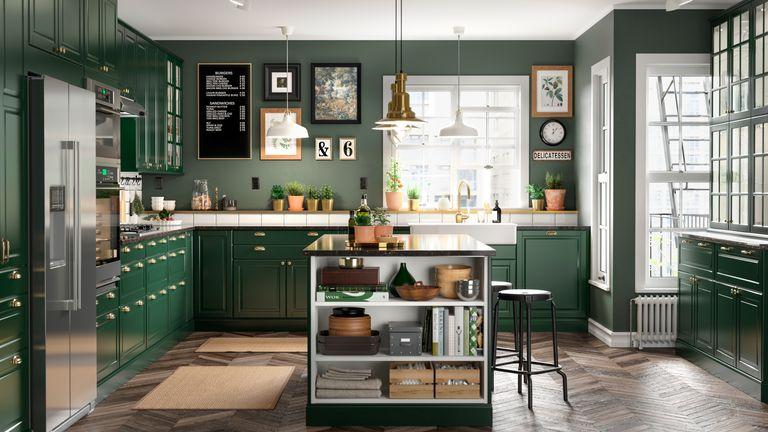 IKEA Bodbyn green kitchen