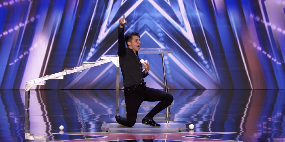 Watch America's Got Talent's Bounce Juggler Dazzle The Judges With Gymnastic Tricks In New Episode Clip