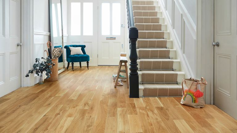 Best hallway flooring: Offcut Art Decor Flooring