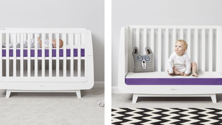 How to clean a house for a new baby: childrens cot with snuz snuzsurface mattress