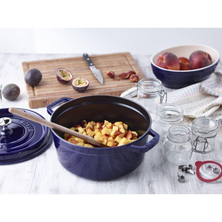 Staub 4 qt. Cast Iron Round Dutch Oven blue