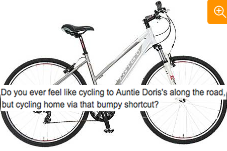 ac902cdd45b Halfords accused of sexism after describing women's bike as great for ' cycling to Auntie Doris's'