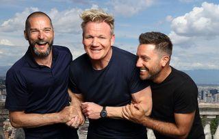 Gordon Ramsay with Fred Sirieix and Gino D'Acampo
